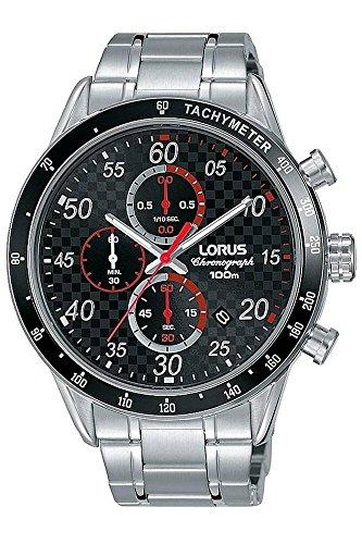Lorus orologio cronografo quarzo uomo con cinturino in acciaio inox rm331ex9