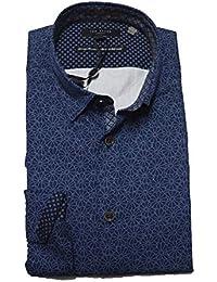 83b7605fcb3d Ted Baker Finsbur LS Floral Geo Printed Shirt Navy
