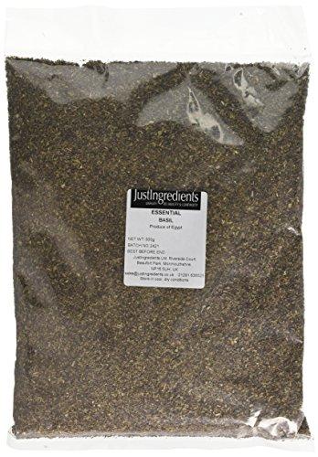JustIngredients Essentials Basil 500 g, Pack of 2