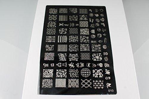 Nailfun Lot de pochoirs pour nail art 15 x 21 cm