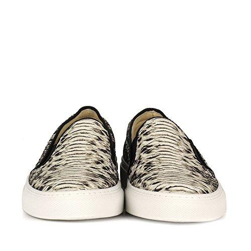 Elia B Chaussures Pukka Baskets Femme Gris