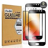 Owbb [2 Pièces] Film Protecteur D'écran en Verre Trempé pour ASUS Zenfone 4 Selfie Pro ZD552KL Noir Couverture Complète Protection 99% Haute Transparent Anti-déflagrant