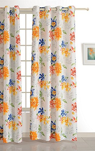 Swayam Eco Dreamlite Floral Eyelet Polyester Window Curtain - 5ft, Multicolour  available at amazon for Rs.449