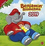 Benjamin Blümchen - Broschurkalender - Kalender 2019 - Heye-Verlag - Wandkalender - 29,5 cm x 30 cm (offen 29,5 cm x 60 cm)