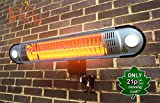 Firefly 1.5kW Outdoor Patio Heater with Easy Fit Wall Mount, Lights and Remote Control