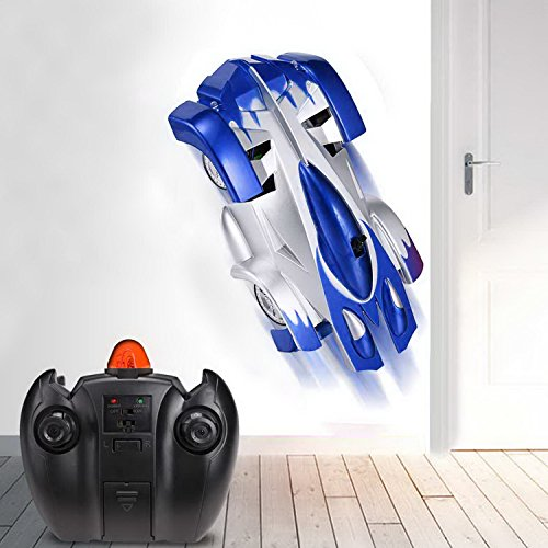 Preisvergleich Produktbild Hikenn Elektronische RC Infrarot-Fernbedienung Wall Climbing Car Climber Stunt-Spielzeug-Auto 9920C-Kind-Geschenk (Blau)