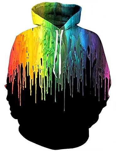 LAIDIPAS Hoodie 3D Print Nouveauté Pulls Sweatshirt Graphique pour hommes S