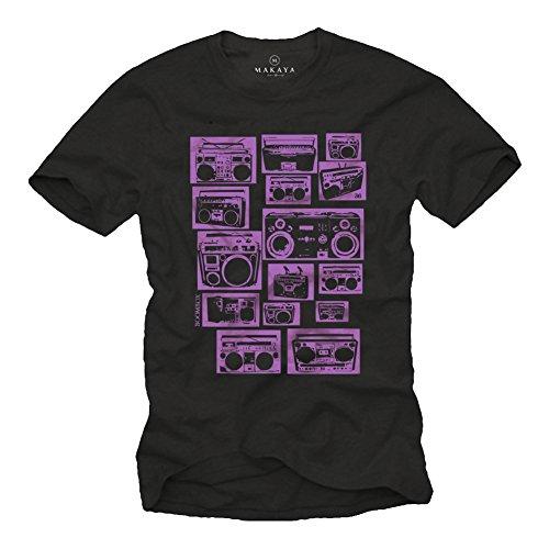 Hip Hop T-Shirt GHETTOBLASTER schwarz Größe XXL