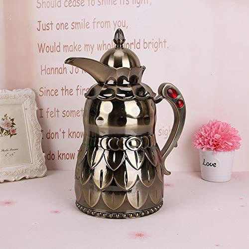 WQWQ Kessel Glas Liner Teekanne (1L) Kupfer-Farbe Tropft Nicht Tropfen Kaffeekanne/Kaffeekanne Hochtemperatur Griff, Um Eine Große Anzahl Von Kaffee/Tee/Getränk Zu Produzieren