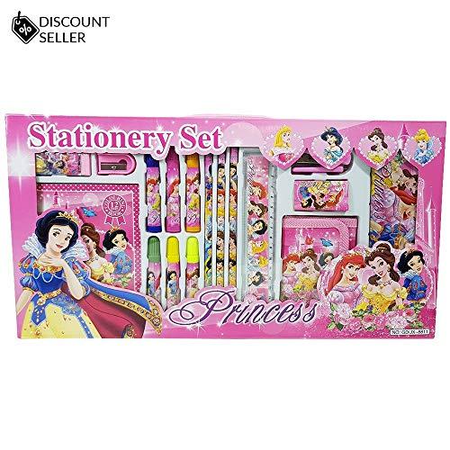 Juego papelería niños princesa 17 piezas cartera
