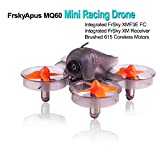 Frsky Mini Racing Drone Apus MQ60, FPV Drone Racing Integrated with FrSky XM Receiver, Drone FPV Racer by Brushed 615 Coreless Motors, Micro Race Drone Driving 31mm 4 Blade Propellers, for the Indoor Drone Racing Enthusiast by LITEBEE (Orange)
