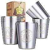 Edelstahl Schnapsgläser (6er Set) – 60 ml Unzerbrechliche Metall-Pinnchen für Whiskey, Tequila, Likör – Großartige Bar-Ausstattung-Geschenkidee von Tru Blu Steel