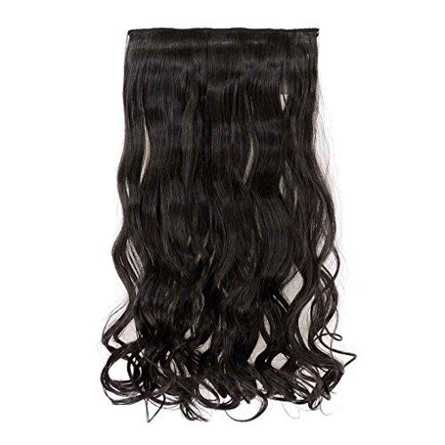 Babysbreath Wavy Bouncy Langes Haar Nahtlose Verlängerung Haarteil Perücken Für Mädchen Natürliches Schwarz -