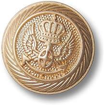 9 Stück Gold Farben Knöpfe- Ø 22,00 mm- gewölbt