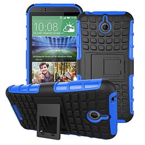 HTC Desire 510 Hülle, SsHhUu Premium Rugged Stoßdämpfung & Staubabweisend Kompletter Schutz Hybrid-Koffer mit Ständer Telefon Kasten für HTC Desire 510 4.7 Zoll (Blau) 510 Htc Telefon-kästen