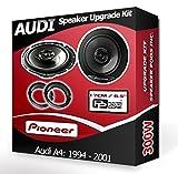 Pioneer altavoces Audi A4bandeja trasera de coche altavoces + aros adaptadores, 240W