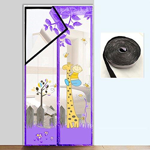 Magic stickers Selbstklebend Türen für häuser bildschirm,Türen mit magneten bildschirm Velcro magnetische tür siebgewebe Tür vorhang Der moskito Magnetisch Hohe denisity Küche Schlafzimmer-E 95x210cm(37x83inch)