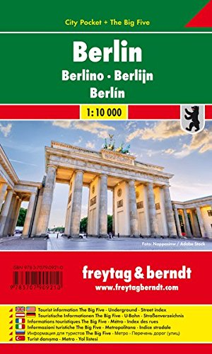 Berlin, Stadtplan 1:10.000, City Pocket + The Big Five, Freytag Berndt Stadtpläne