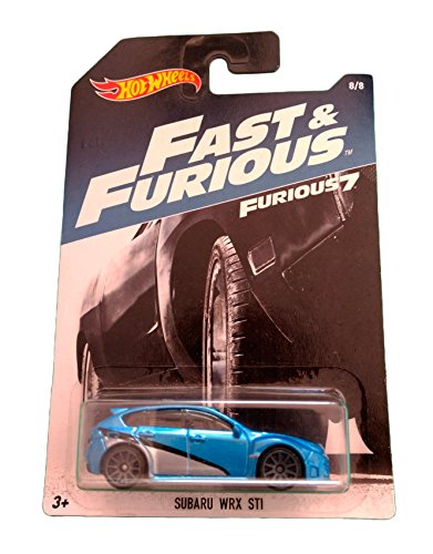 Hot Wheels Subaru WRX STI - Fast and Furious 7 - 8/8 (Long Card)
