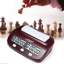 JZK Reloj Digital ajedrez Temporizador ajedrez Reloj ajedrez Pantalla multifunción Digital para hogar y torneos