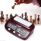 JZK PQ9907 Digitale Multifunktionsanzeige Schachtimer Schachuhr Chess Game Clock elektronisches Brettspiel für Zuhause & Turniere