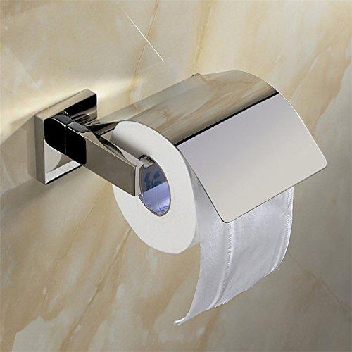 Weare Home SUS304 Edelstahl poliert Toilettenpapierhalter Papierrollenhalter mit Klappe zur Wandmontage für Badezimmer