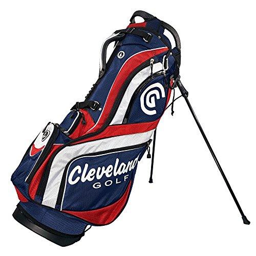 Cleveland Golf Herren CG Tasche mit Ständer, Navy/Rot/Weiß -