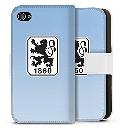 Apple iPhone X Silikon Hülle Case Schutzhülle TSV 1860 München Fanartikel Fußball Sideflip Tasche weiß