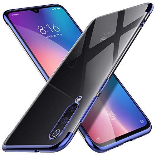 KuGi. para Funda Xiaomi Mi 9, TPU Transparente Slim Silicona Case Cover [Anti-arañazos] Diseñado para Xiaomi Mi 9 - Azul