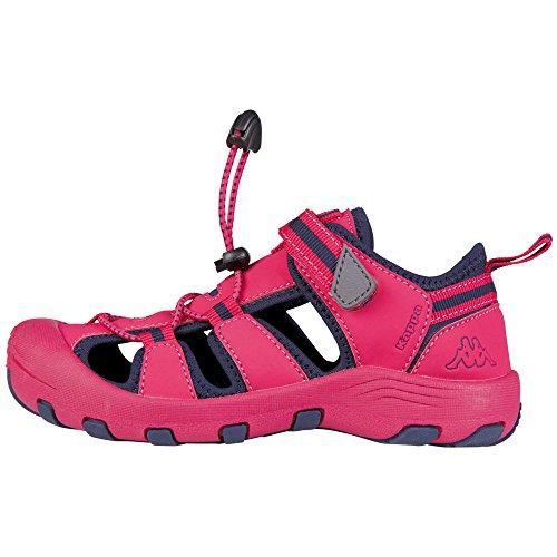 Kappa Downey K, Sandales  Bout ouvert mixte enfant Rose (Pink/navy)