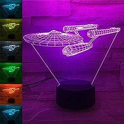 Luces LED 3D, creativas estrellas Bulbing USB 3D, luces LED coloridas al tacto, luz nocturna, regalo de Navidad
