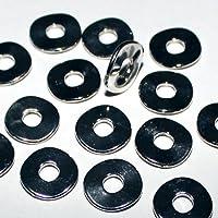10 Scheiben Spacer Zwischenperlen versilbert gebürstet gewellt 10mm
