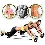 Machine double-roues Beautyrain avec élastiques pour abdominaux, tractions, corde ventre minceur gymnastique, exercices...