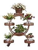 LQQGXL Rack de Stockage des Plantes Jardinière en métal à roulettes, rayonnage à Fleurs, décoration de Balcon intérieur, Fer forgé, jardinière