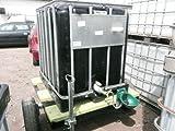 mobile Weidetränke / fahrbare Tränke 600 Liter (4) # IBC Tank, Farbe SCHWARZ, auf Kunststoffpalette auf Anhänger # Komplett neu