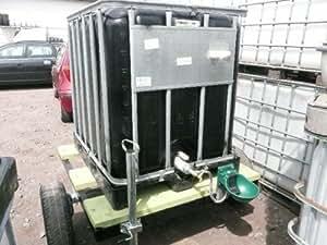 mobile weidetr nke fahrbare tr nke 1000 liter 4 ibc tank farbe schwarz auf. Black Bedroom Furniture Sets. Home Design Ideas