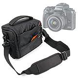 Duragadget Sacoche Noir/Orange pour Canon EOS M5 / EOS 5D Mark IV, Hasselblad X1D, Olympus E-M1 II & E-PL8 et Leurs Accessoires