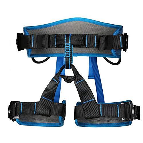 Laiabor imbracatura da arrampicata discesa in corda doppia, cintura di sicurezza, attrezzatura per l'arrampicata, cintura di sicurezza della caverna a mezza lunghezza,blue