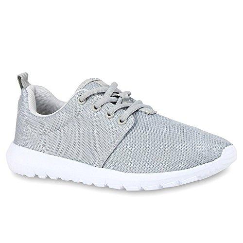 Damen Sportschuhe | Übergrößen | Trendfarben Runners | Sneakers Laufschuhe | Fitness Prints Grey