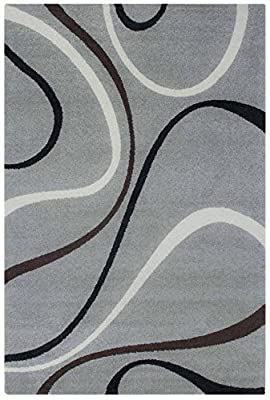 Twist 514 Rug 100% polypropylene, weight approx. 2200 g / M²; pile height: approx. 12 MM 60 x 110 CM Grey - inexpensive UK light store.