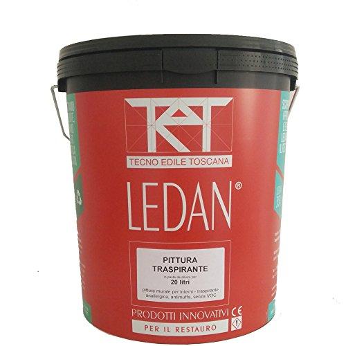 Pittura traspirante antimuffa anallergica per interni LEDAN - 20 litri