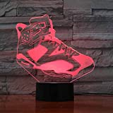 Usb Home Decor 7 Colors Changing Table Lamp 3D Led Shoes Modelling Living...