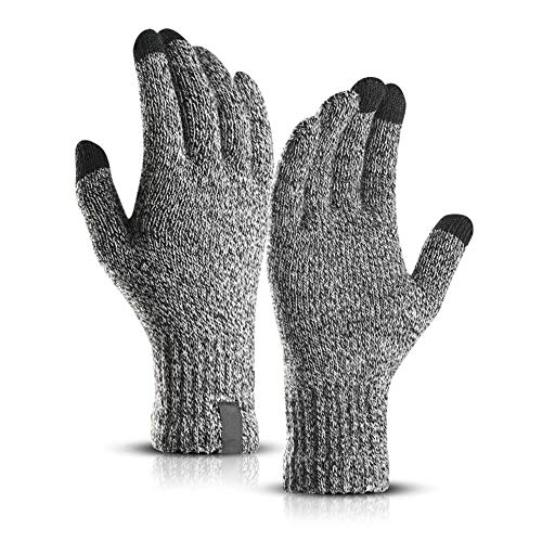 Qmcmc Winter Gestrickte Wolle Touchscreen Handschuhe Normal Warme Wolle Handschuhe Volle Finger Sporthandschuhe