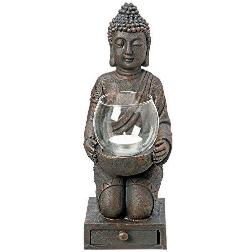Windlicht Buddha mit