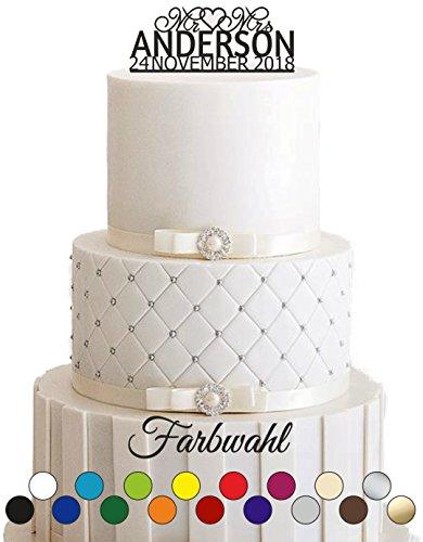 Cake Topper, Tortenstecker, Tortefigur Acryl, Tortenständer - Farbwahl - Etagere Hochzeit Hochzeitstorte Kuchenaufstecker