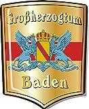 1 x 3 D Wappen DOM Aufkleber Großherzogtum Baden 33 x 26 mm
