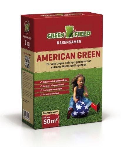 Greenfield 62011 American Green Rasensaat 1 kg für ca. 50 qm