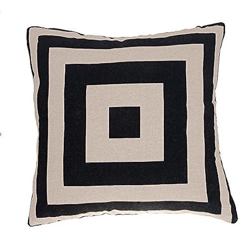 amortiguador de la cubierta de lino del algodn funda de almohada marco cuadrado 45 x