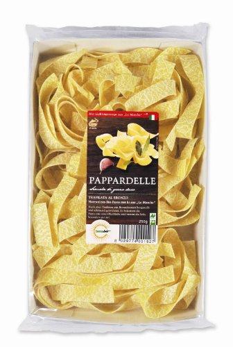 """Terrabio Pappardelle mit Ei (bio & fair) - Original italienische Hartweizen Pasta mit Ei aus """"Le Marche"""", 250 g"""