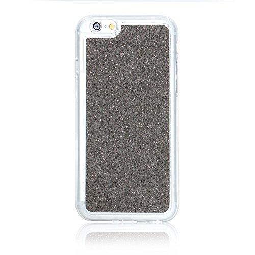 Für iPhone 7 4.7 Zoll Ultra Dünn Silikon Tasche,Für iPhone 7 4.7 Zoll Bling Glitter Schutz Hülle mit Liebe Herzen Ring Halter,Funyye Luxus [Herzen Ring Rosen-Gold Gradient Farbe] Sparkles Glänzend Gli Muster 8